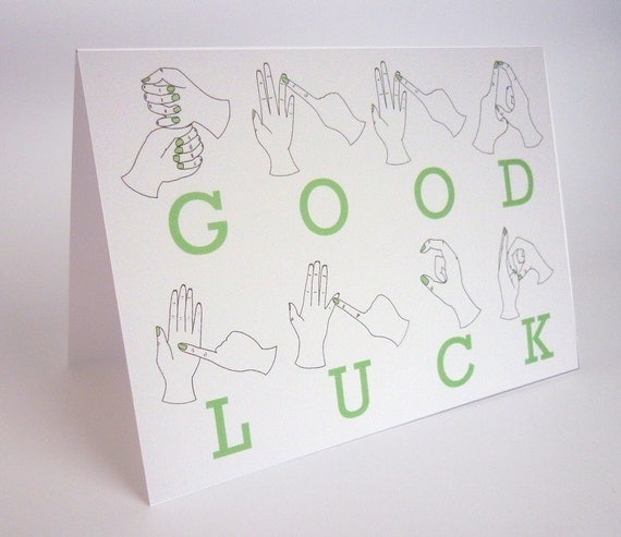 how to say good in sign language