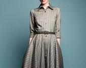 Full skirt dress, retro dress, steampunk dress, mad men dress, made to order dress, plus size dress