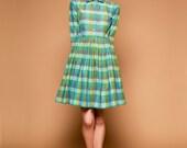 Green Tartan Dress by Mrs Pomeranz S