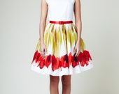 Red Tulips Dress by Mrs Pomeranz (L, XL)