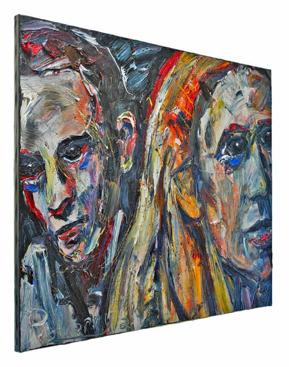 Oil Paint on Gallery Wrapped Stretched Canvas 24 by 30 by 3/4 in./ Original Oil Painting Large Impressionist Art City  Realism Portrait