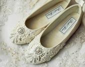Flower Girl Shoes Flower Girl Ballet Flats Wedding Vintage Lace Wedding Flower Girl Shoes Wedding Girl Shoes Wedding Shoes Christening
