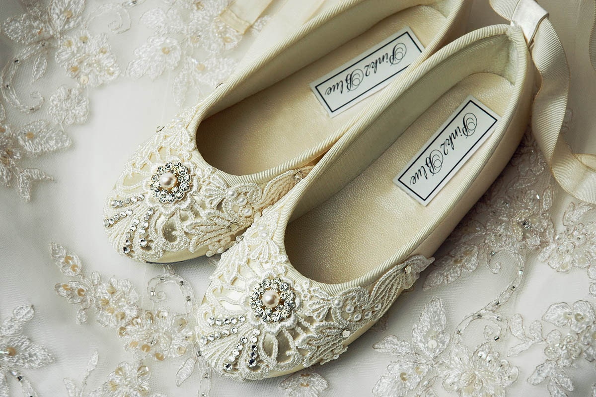 Flower Girl Shoes Flower Girl Ballet Flats Wedding By Pink2Blue