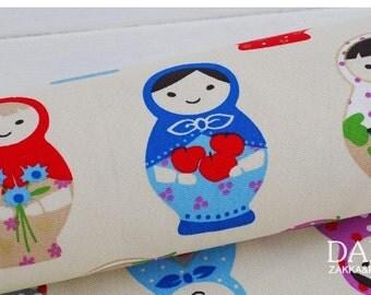 Cotton Fabric Cloth -DIY Cloth Art Manual Cloth-Russian Dolls 55x19Inches