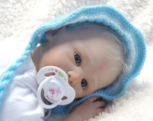 RUFFLED BABY BONNET - Knitting Pattern - Pdf - 3 Sizes