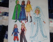 "Vintage 1971 Simplicity Pattern 9698, Wardrobe for 15 1/2"" and 17 1/2"" Teen Dolls"