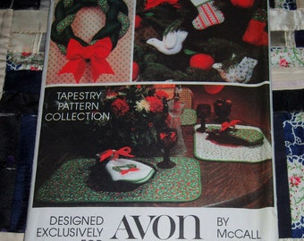 Cute 1980s McCall Avon Craft Pattern, Christmas Home Decorations