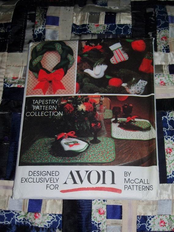 Cute 1980s Mccall Avon Craft Pattern Christmas Home