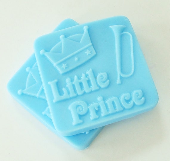 LITTLE PRINCE Blue Baby Soap - handmade, glycerin, scented, kids, fun, custom party favors, baby shower