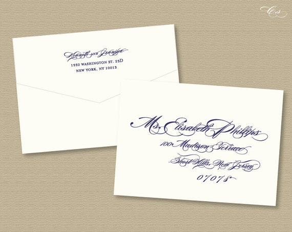 Customized Calligraphy Envelope Template By Csutrisno On Etsy