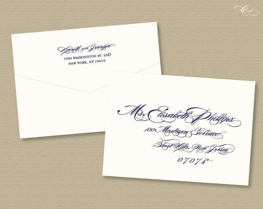 Customized Calligraphy Envelope Template