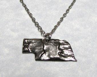 Nebraska State Necklace Charm Geology Design
