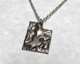 Utah State Necklace Charm Geology Design