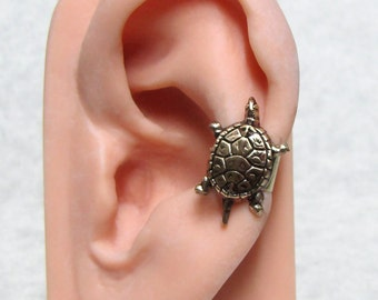 Sea Turtle Nautical Ear Cuff