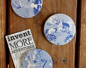 Nancy Drew Circle Magnets- Set of 3