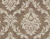 SALE! Pirouette French Damask Mocha Verna Mosquera Fabric One Yard