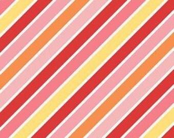 Riley Blake Fabric Stripe Fabric Hello Sunshine Pink Stripe C3152 Half Yard