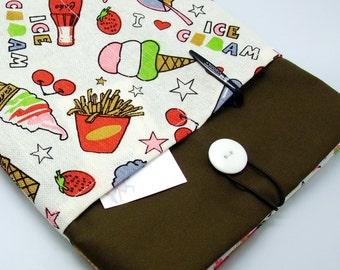 KI iPad Air case, iPad cover, iPad sleeve/ Samsung Galaxy Tab 3 10.1with 2 pockets, PADDED - Tasty snacks