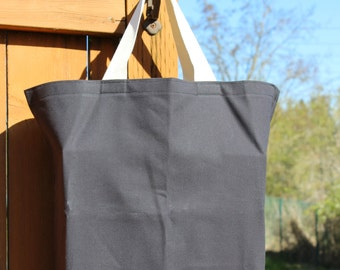 Canvas Tote Bag / Black Canvas Reusable Shopping Bag, Go Green, Ready To Ship!