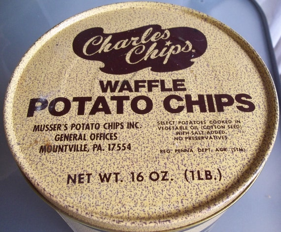 Vintage Charles Waffle Chips Tin