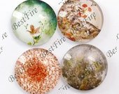 4pcs of the 25mm Round Glass Cabochons Mix Tree Of Life, jewelry Cabochons finding beads,Glass Cabochons,Lucky Tree--04