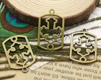 10pcs of antique brass charming cross pendant,metal finding 19x30mm
