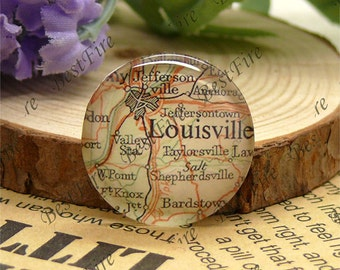 10mm,12mm,14mm,16mm,18mm,20mm,25mm Round Glass Cabochons Louisville Map,jewelry Cabochons finding beads,Glass Cabochons,Map Cabochons