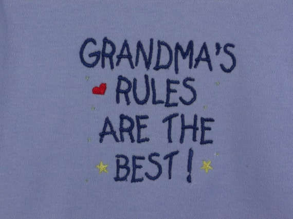 Baby Clothing Grandma S Rules Are The Best Embroidered