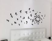 Gossip Girl Wall Art, Black Butterfly Wall Decor, 3D Wall butterflies, Black Butterflies, Black Wall Decals
