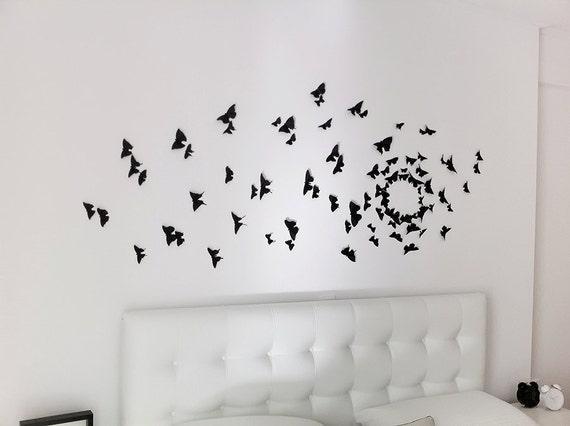 Black Butterfly Wall Decor Gossip Girl : Gossip girl wall art black butterfly decor d