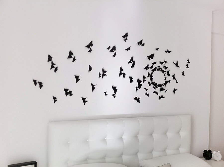 Gossip Girl Wall Art Black Butterfly Wall Decor 3d Wall