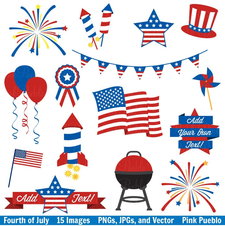 Clip Art 4th Of July Clip Art Pictures 4th of july clipart etsy fourth clip art vectors great for decorations or decor commercial and personal