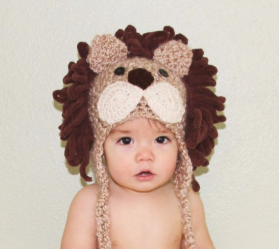 Baby Hats - Lion Hat - Baby Lion Hat - Boy Lion Costume Hat - Halloween Costume Hat - Lion Costume Hat - by JoJosBootique