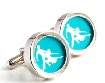 Salsa Cufflinks for Dancing Fans - Colour can be Customised PC227