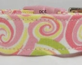 Dog Collar Swirls Pink Green Yellow White CHOOSE SIZE  Adjustable Dog Collars D Ring So Cute Everyday Accessories Pet Pets Summer Accessory