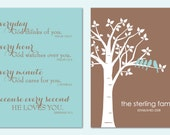 Everyday God Loves You - Inspirational Scripture Print - Family Tree - Set of two 8x10 Prints