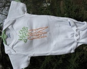 Hand Embroidered Onesie --  Carrots