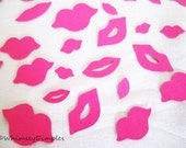 Lips Confetti Party Decor Wedding Engagement Die Cut Kiss Card Accent Table Scatter, Color Options