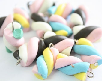Miniature Polymer Clay Foods Supplies Candy for Beaded Jewelry Charm 10 pcs