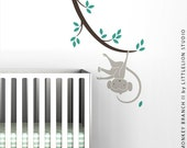 Monkey Branch II Wall Decal by LittleLion Studio