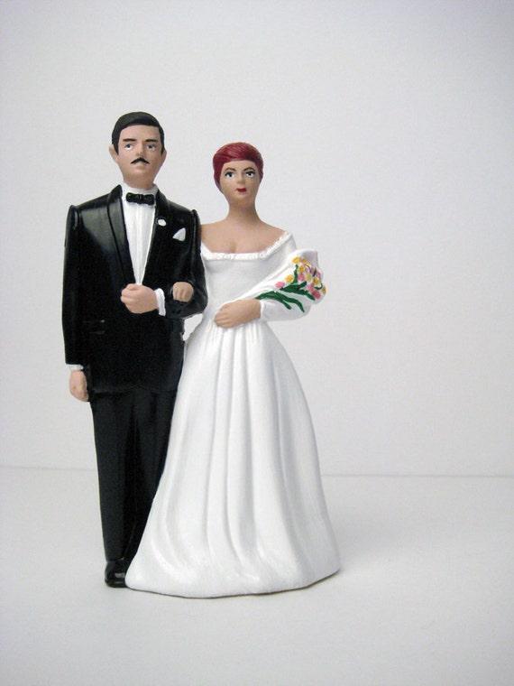 vintage wedding cake topper 50s 60s vintage bride and groom. Black Bedroom Furniture Sets. Home Design Ideas
