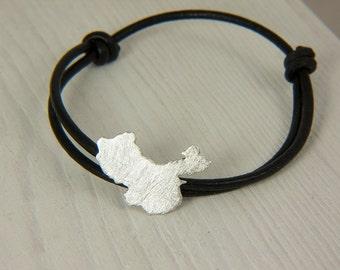 China bracelet adoption Sterling silver bracelet china map