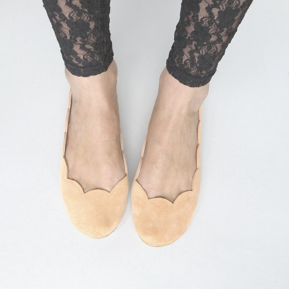 Selection of Two Pretty Handmade Ballet Flats - Reserved for ChunkyPineapple