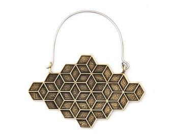 Geometric Earrings - Cube Earrings - Geometric Jewelry