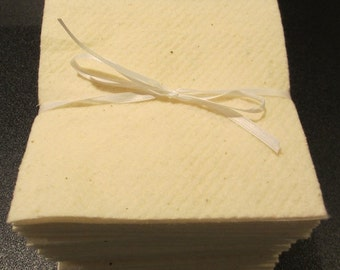 50 - 6 1/2  Inch - Warm and Natural Or White Batting Squares