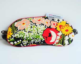 Travel eye mask - Blossom in black