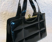 Reserved Vintage 70s Purse Black Kelly Bag
