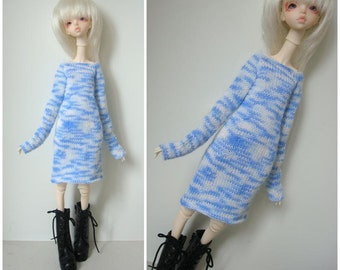 Doll-Chateau KID: Knitted Off-Shoulder Xtra Long-Sleeved Dress