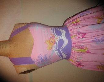 Custom Made to Order Tinkerbell Secret of the Wings Sweet Heart Geekery PinUp Halter Ruffled Mini Dress