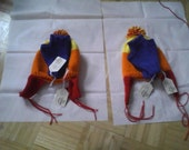 Hands of Blue Fingerless Mitts With FREE Cunning Hat